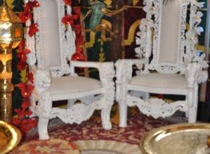 trône blanc pour mariage - ids animations