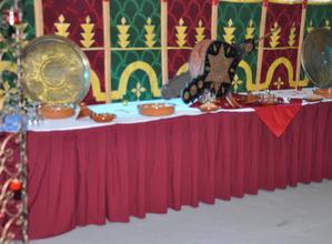 buffet avec décor oriental - ids animations