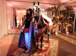 location de cheval en résine avec chamelier costumé - ids animations